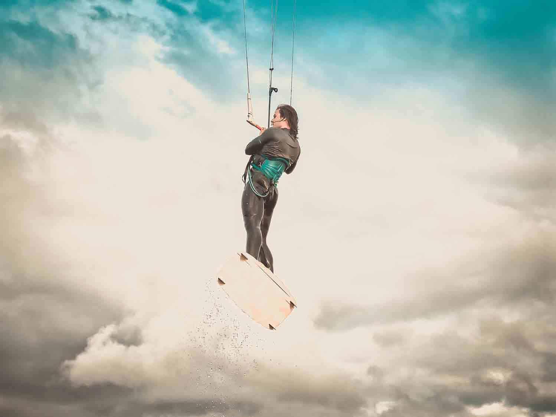 Kitensurfen Ostsee Springen