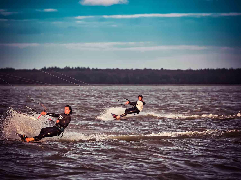 Kitensurfen Ostsee zuzweit