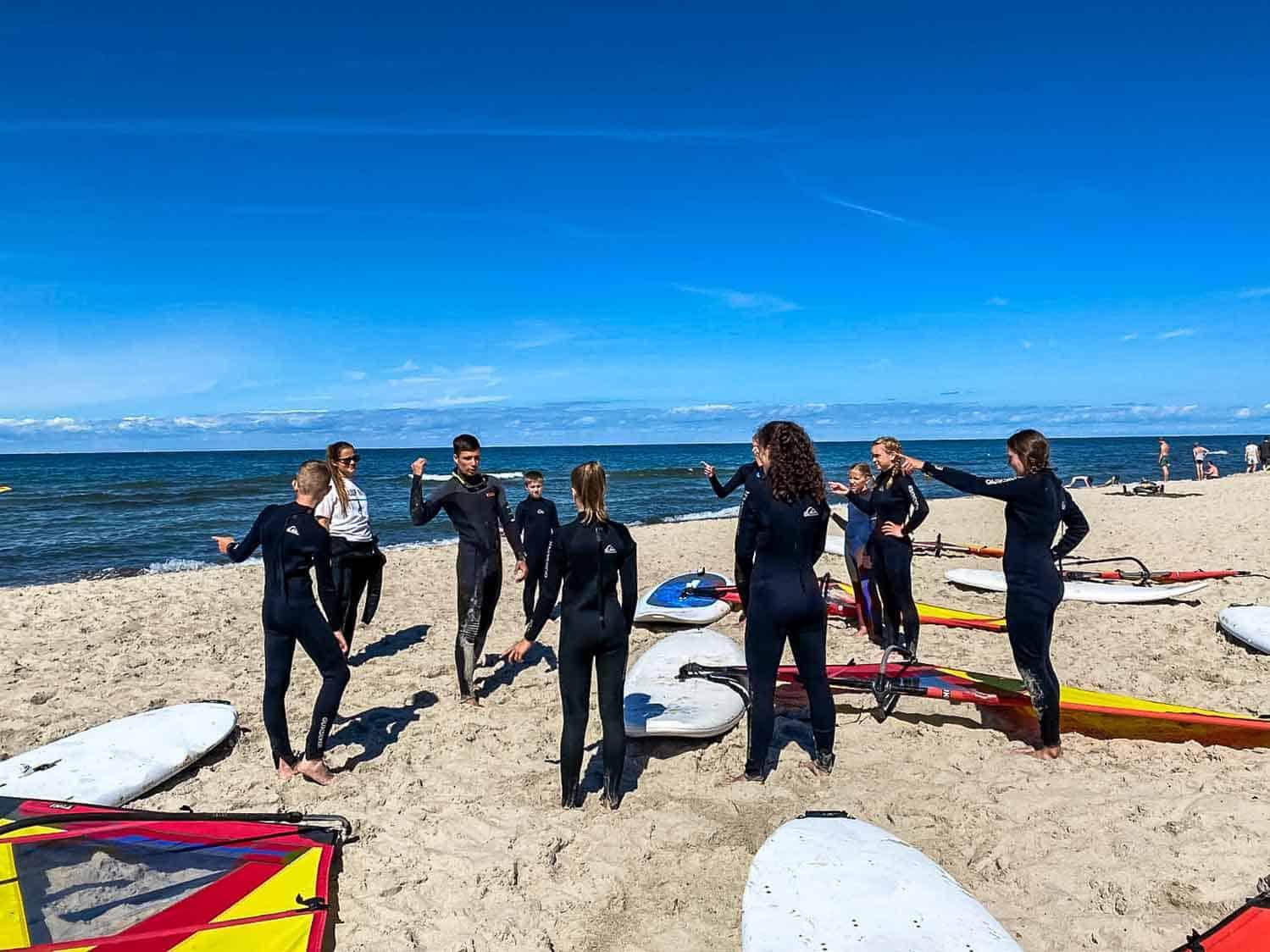 Windsurfen lernen Ostsee