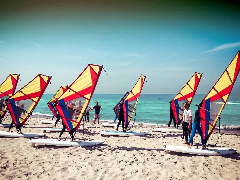 Windsurfen lernen Ostsee Schnupperkurs