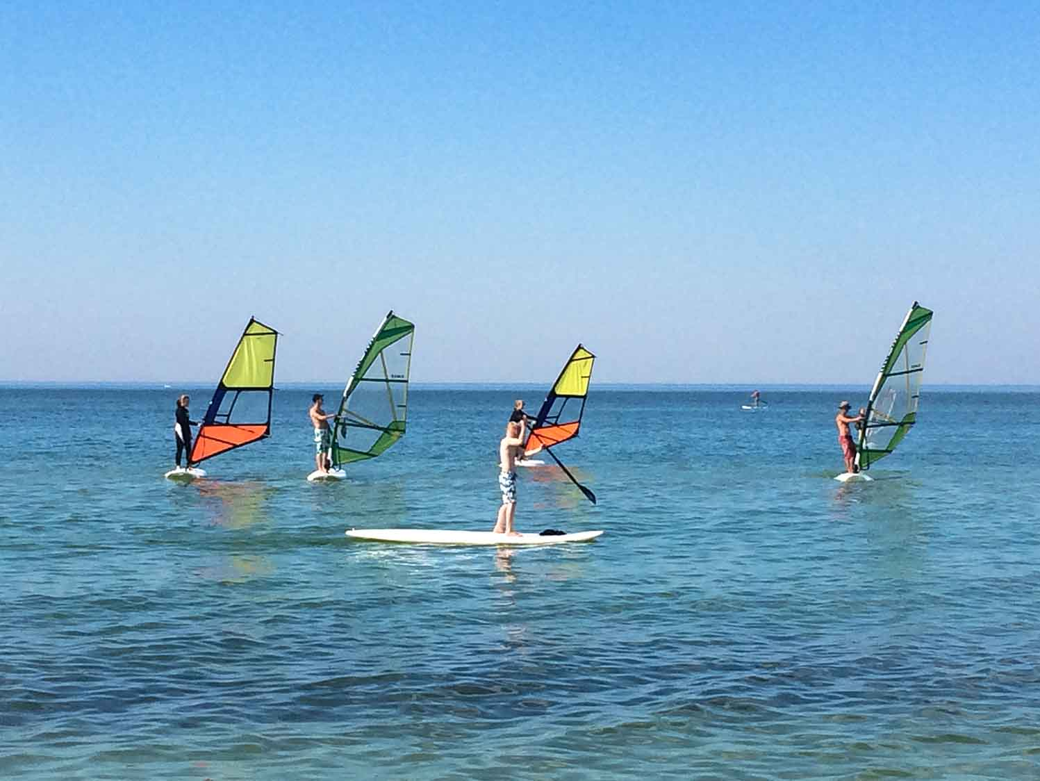 Windsurfkurs Ostsee Gruppe